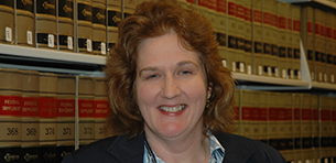 Irene Crisci Named Interim Director of the Gould Law Library Logo