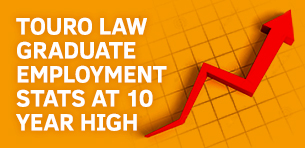 Touro Law Graduate Employment Stats at 10 Year High Logo