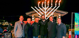 Dean Ballan Honored at Local Menorah Lighting Logo