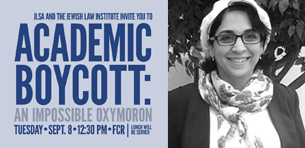Touro Law to Host Lecture on Academic Boycott by Dr. Sharona Goldenberg Logo