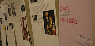 Touro Law Home to Lawyers Without Rights Exhibit Logo