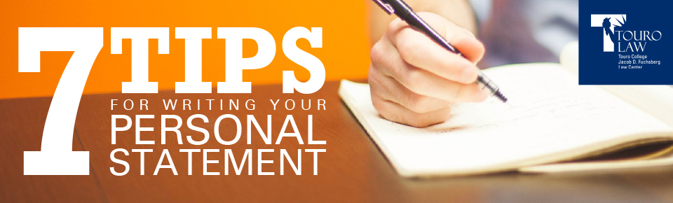 tips for writing law school personal statements