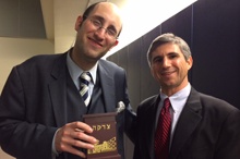 Rabbi Soloveichik and Samuel Levine